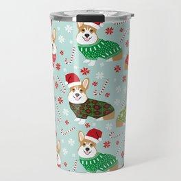Corgi sweater christmas ugly sweaters dog breed welsh corgis holiday Travel Mug