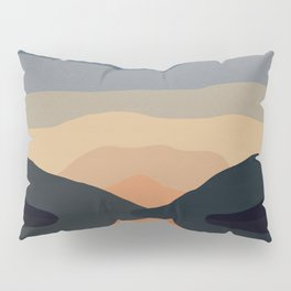 Sunset Mountain Reflection Pillow Sham
