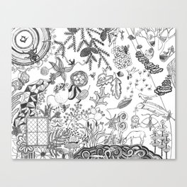 The View From Here - Black and White Canvas Print