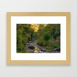 Devils Den State Park Autumn Landscape - Northwest Arkansas Framed Art Print