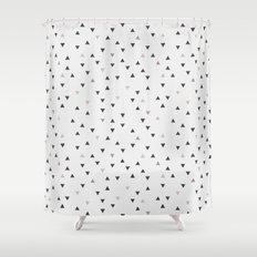 DOWN UP / scandi white / warm grey / flax / lavender Shower Curtain