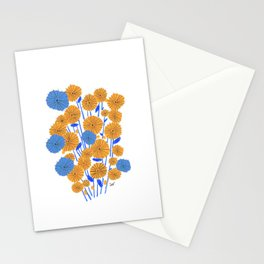 Golden Blue Stationery Cards