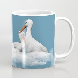 STORKS ON CLOUDS (animals love) Coffee Mug