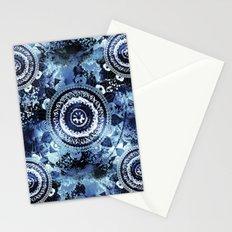 Navy Sea Mandala Stationery Cards
