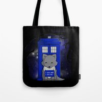 bad wolf Tote Bags featuring Bad Wolf by Perdita