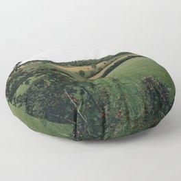 England rural landscape Floor Pillow