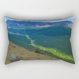 Views along the Bald Hills Hike in the Maligne Valley of Jasper National Park, Canada Rectangular Pillow