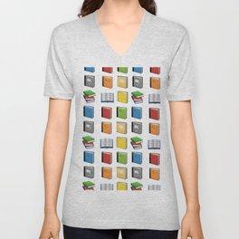 Book Emoji Pattern Unisex V-Neck