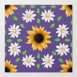 Flower Mandala - Ultra Violet Canvas Print