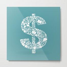 Business dollar Metal Print