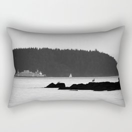 Ferry at the San Juan Islands Rectangular Pillow