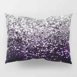 Dark Night Purple Black Silver Glitter #1 #shiny #decor #art #society6 Pillow Sham