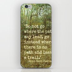 Blaze Your Own Trail iPhone & iPod Skin