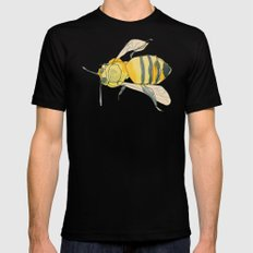 bee no. 2x2 Black X-LARGE Mens Fitted Tee