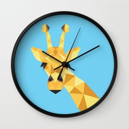 a giraffe Wall Clock