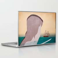 the whale Laptop & iPad Skins featuring  WHALE by mark ashkenazi