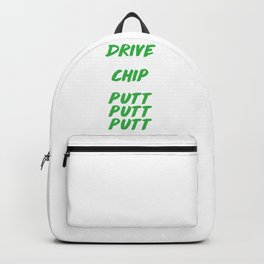 Funny Golf Lover Drive Cuss Chip Cuss Putt Putt Putt Cuss Repeat Golfer Backpack
