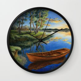 Pine lake Wall Clock