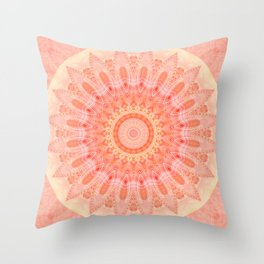 Mandala soft orange 2 Throw Pillow