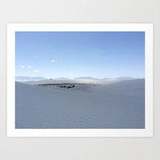 White Sands Dunes, New Mexico Art Print
