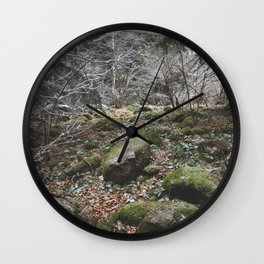 Winter stones Wall Clock