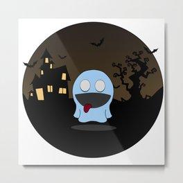 cute little ghost Metal Print