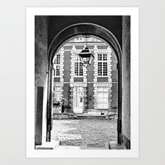 End of the Tunnel B&W Art Print