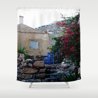 greece Shower Curtains featuring Greece #2 by lularound