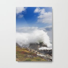 Wave crashing in Louisbourg Metal Print