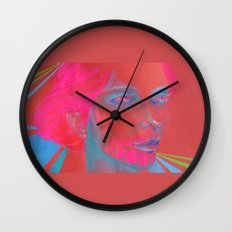 If Your Skull Was Fushia Wall Clock