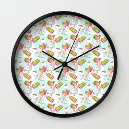 Japanese sakura wagashi pattern Wall Clock