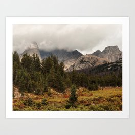 Moody Morning in the Wyoming Wilderness Art Print