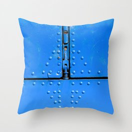 Blue Abstract Of Aviation Throw Pillow