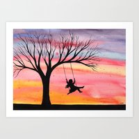 Sunset Joy Art Print