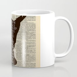 Peter Pan Over Vintage Dictionary Page - That Place Coffee Mug