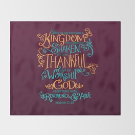 Kingdom That Cannot Be Shaken Throw Blanket