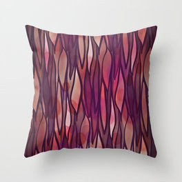 Rouge Willow Throw Pillow