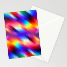 Abstract Colorful Funky Squares Pattern Stationery Cards