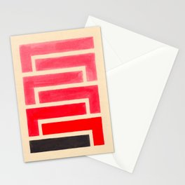 Geometric Pattern Watercolor Painting Stationery Cards