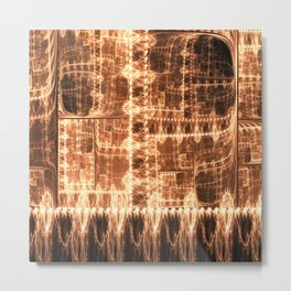 Copper Fire Industrial Abstract Metal Print