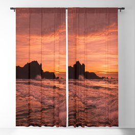 Pacific Sunset. Blackout Curtain
