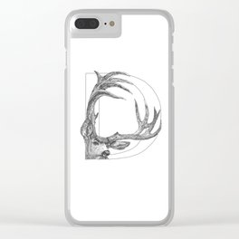 Animal Alphabet Clear iPhone Case