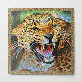 Colorful Jaguar Metal Print