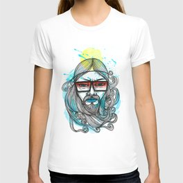 A Man with Shades and Beard T-shirt