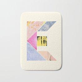 Collaged Tangram Alphabet - E Bath Mat