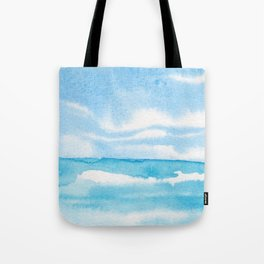 Soft Blue Sea Tote Bag