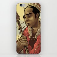 rap iPhone & iPod Skins featuring Proclaimed King of Rap by Logan  Faerber