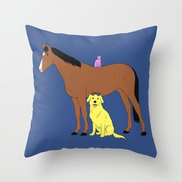 Animals from Hollywoo Throw Pillow