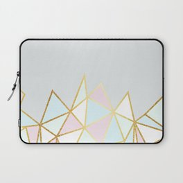 Gold & Pastel Geometric Pattern Laptop Sleeve