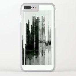 Absraction Clear iPhone Case